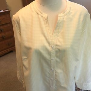 Westbound Woman 2X yellow gingham blouse